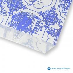 Papieren zakjes - Souvenir - Wit Blauw - Detail