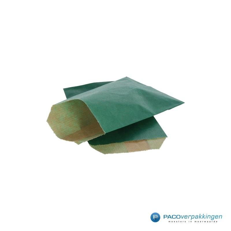 Papieren zakjes - Groen Kraft - Budget - Zijaanzicht