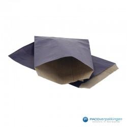 Papieren zakjes - Blauw Kraft - Budget - Vooraanzicht