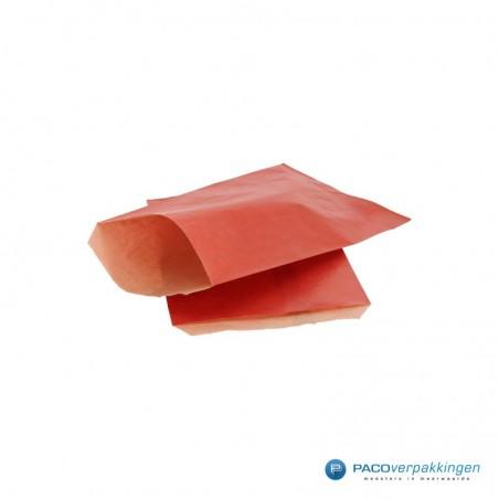 Papieren zakjes - Rood kraft met bruin - Budget