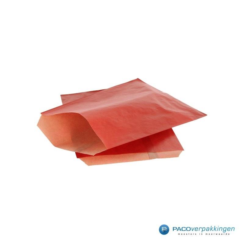 Papieren zakjes - Rood Kraft - Budget - Zijaanzicht