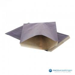 Papieren zakjes - Donkerblauw Kraft - Budget - Vooraanzicht