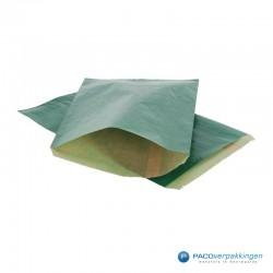 Papieren zakjes - Groen Kraft - Budget - Vooraanzicht