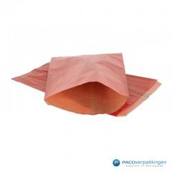 Papieren zakjes - Rood Kraft - Budget - Vooraanzicht