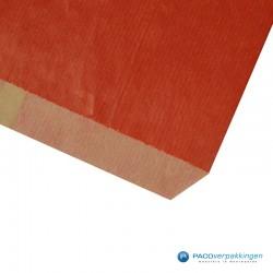 Papieren zakjes - Rood Kraft - Budget - Detail