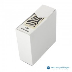 Cadeau Sticker - Zebra -Zwart en wit glans -