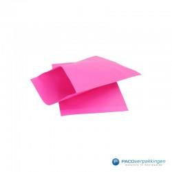 Papieren zakjes - Cerise Kraft - Zijaanzicht