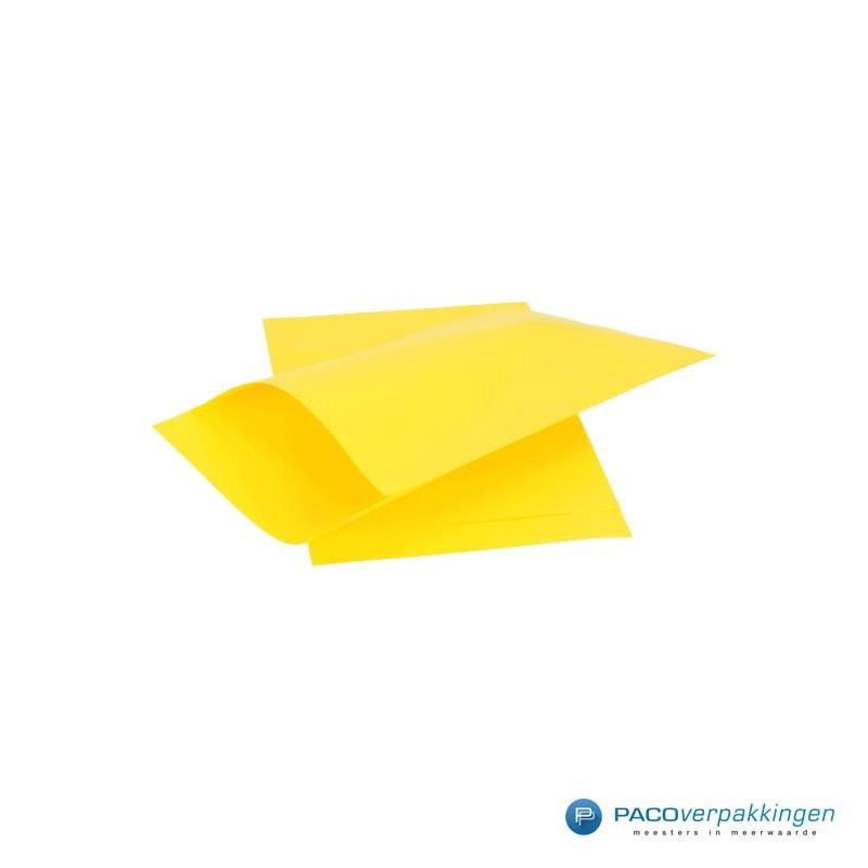 Papieren zakjes - Geel Kraft - Zijaanzicht
