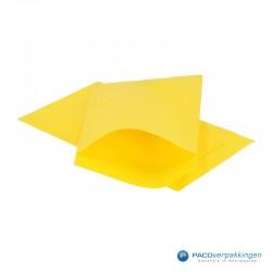 Papieren zakjes - Geel Kraft - Vooraanzicht