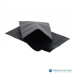 Papieren zakjes - Zwart Kraft - Vooraanzicht