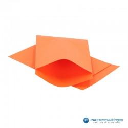 Papieren zakjes - Oranje Kraft - Vooraanzicht