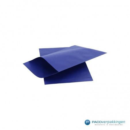 Papieren zakjes - Royal Blauw met royal blauw kraft (Nr. 1719)