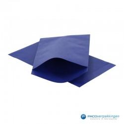 Papieren zakjes - Royal Blauw Kraft - Vooraanzicht