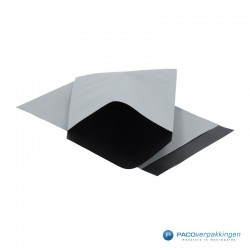 Papieren zakjes - Zilver / Zwart (Nr. 1740) - Vooraanzicht