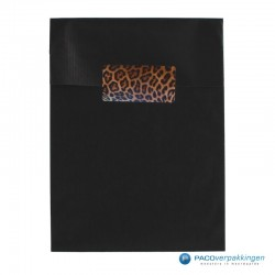 Cadeau stickers - Luipaard - Oranje en zwart glans-Toepassingsfoto