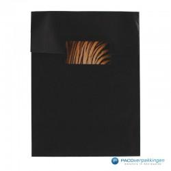 Cadeau stickers - Tijger - Oranje en zwart glans - Toepassingsfoto