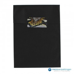 Cadeau stickers - Slang - Zwart en geel glans - Toepassingsfoto
