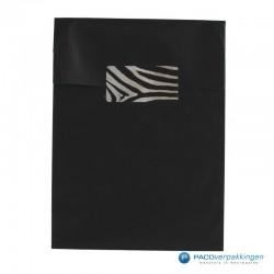 Cadeau stickers - Zebra - Zwart en wit glans - Toepassingsfoto