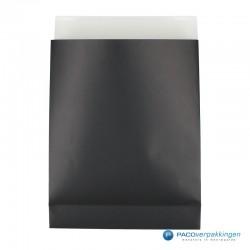Geschenkzakjes papier - Zwart Mat (Palermo) - Zijaanzicht