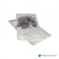 Papieren zakken - Vleeswarenzakken - Wit Achteraanzicht