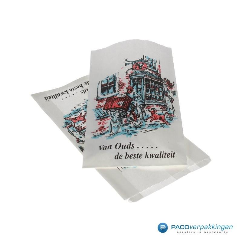 Papieren zakken - Vleeswarenzakken - Wit - Vooraanzicht