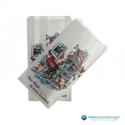 Papieren zakken - Vleeswarenzakken - Wit - Bovenaanzicht