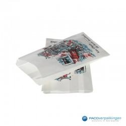 Papieren zakken - Vleeswarenzakken - Wit - Zijaanzicht