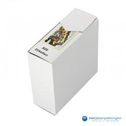 Cadeau stickers - Slang - Zwart en geel glans - Zijaanzicht