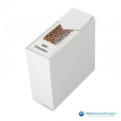 Cadeau stickers - Luipaard - Oranje en zwart glans - Zijaanzicht