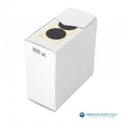 Stickers rond - Zwart Mat - Zijaanzicht