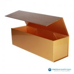 Magneetdoos - Goud Glans - Budget - Zijaanzicht open