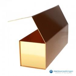 Magneetdoos - Goud Glans - Budget - Zijaanzicht open achter