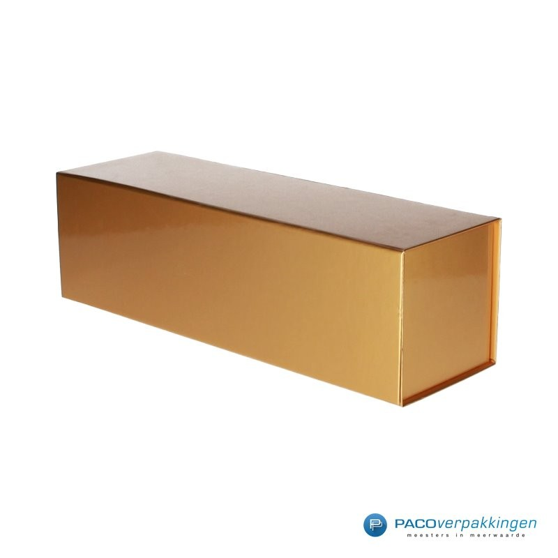 Magneetdoos - Goud Glans - Budget - Zijaanzicht dicht