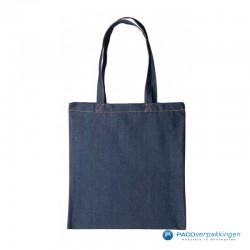 Denim tassen - Blauw - Vooraanzicht
