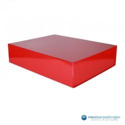 Magneetdoos - Rood Glans - Budget - Zijaanzicht dicht