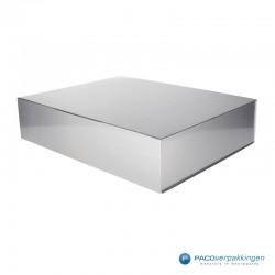 Magneetdoos - Zilver Glans - Budget - Zijaanzicht dicht