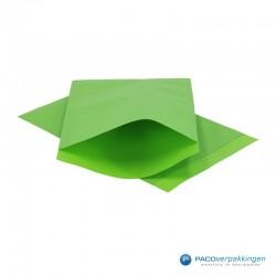 Papieren zakjes - Appelgroen Kraft - Vooraanzicht