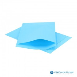 Papieren zakjes - Aquablauw Kraft - Vooraanzicht