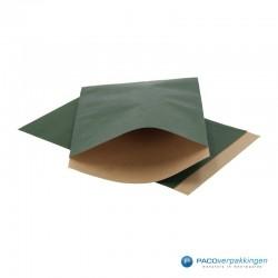 Papieren zakjes - Groen Kraft - Vooraanzicht