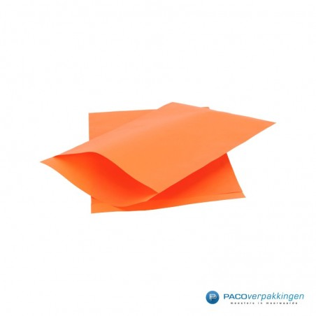 Papieren zakjes - Oranje met oranje kraft (Nr. 1707)