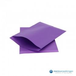 Papieren zakjes - Paars Kraft - Zijaanzicht