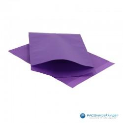 Papieren zakjes - Paars Kraft - Vooraanzicht