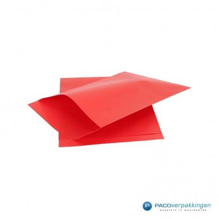 Papieren zakjes - Rood met rood kraft (Nr. 1715)