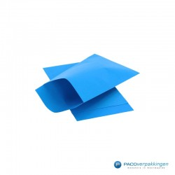 Papieren zakjes - Blauw Kraft - Nr.1718 - Zijaanzicht