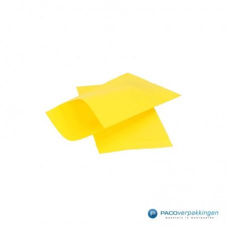 Papieren zakjes - Geel met geel kraft (Nr. 1704)