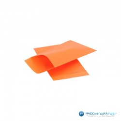 Papieren zakjes - Oranje Kraft - Zijaanzicht