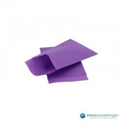 Papieren zakjes - Paars met...