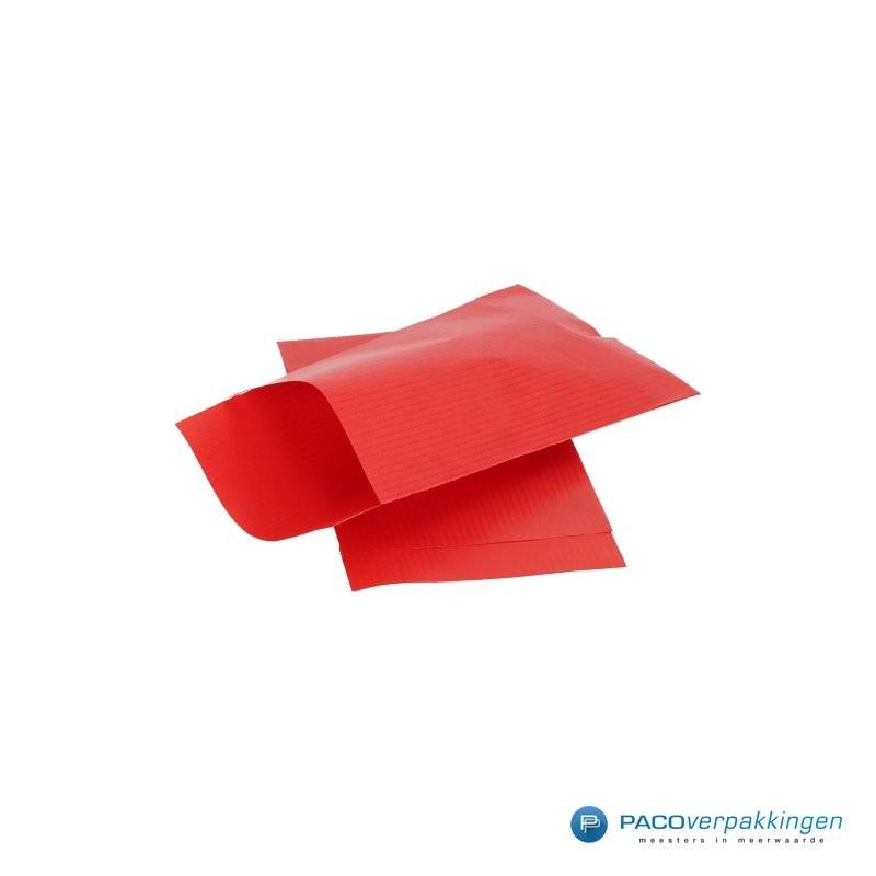 Papieren zakjes - Rood Kraft - Zijaanzicht