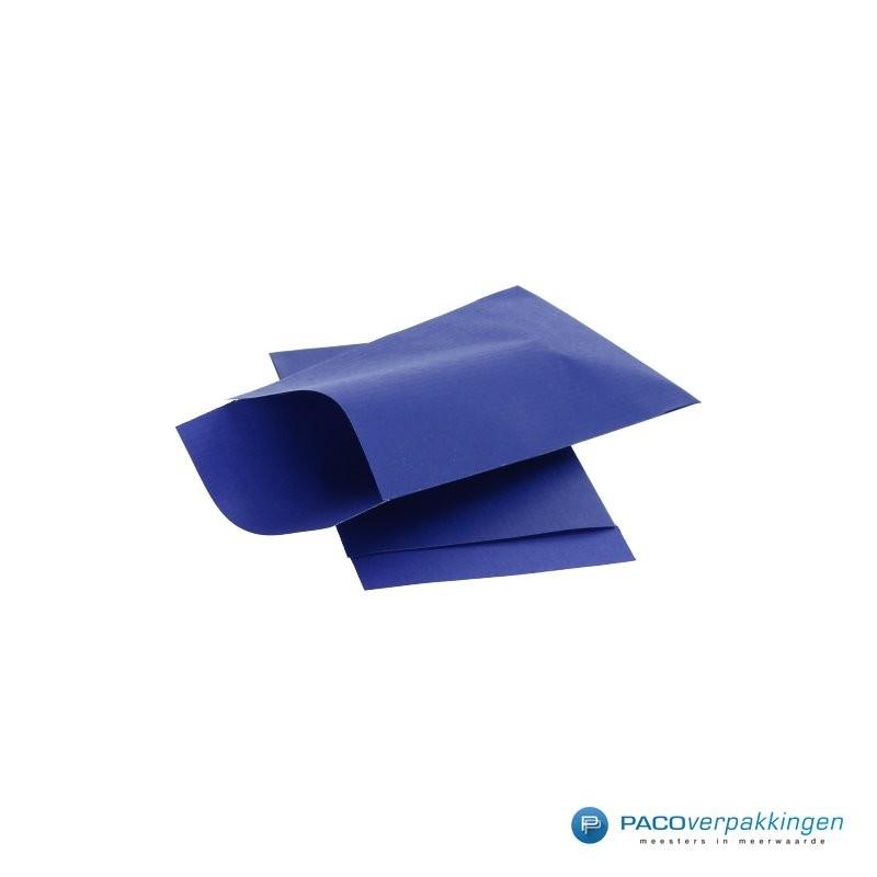Papieren zakjes - Royal Blauw Kraft - Zijaanzicht