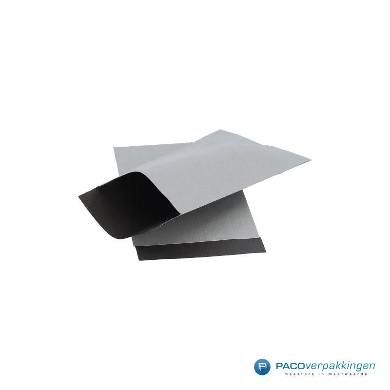 Papieren zakjes - Zilver / Zwart  Nr. 1740 - Zijaanzicht